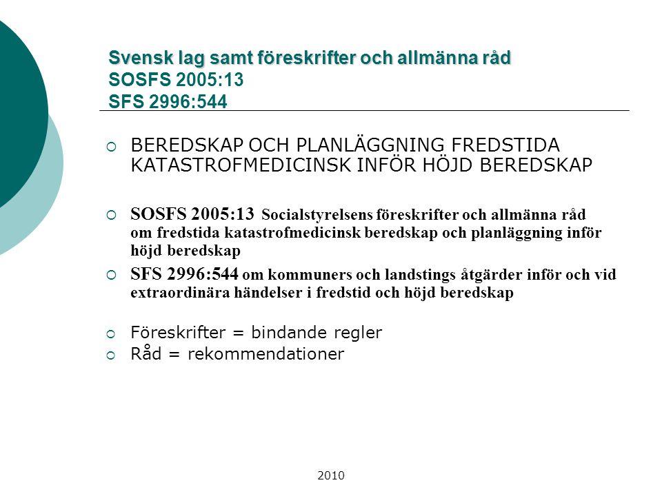 2010 Krisledningsorganisation Härryda Krisledningsnämnd Kommunstyrelsens ordförande och vice ord.