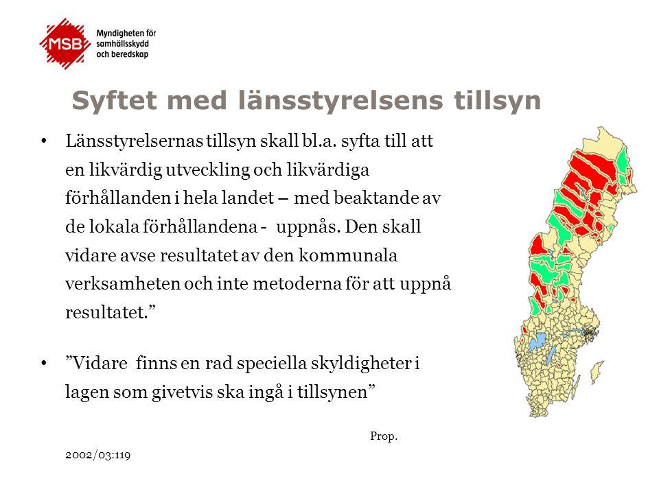 Tillsyn LSO LSO Preciserade skyldigheter Resultat -Kommunens organisation -Tillsyn enligt 2 kap.
