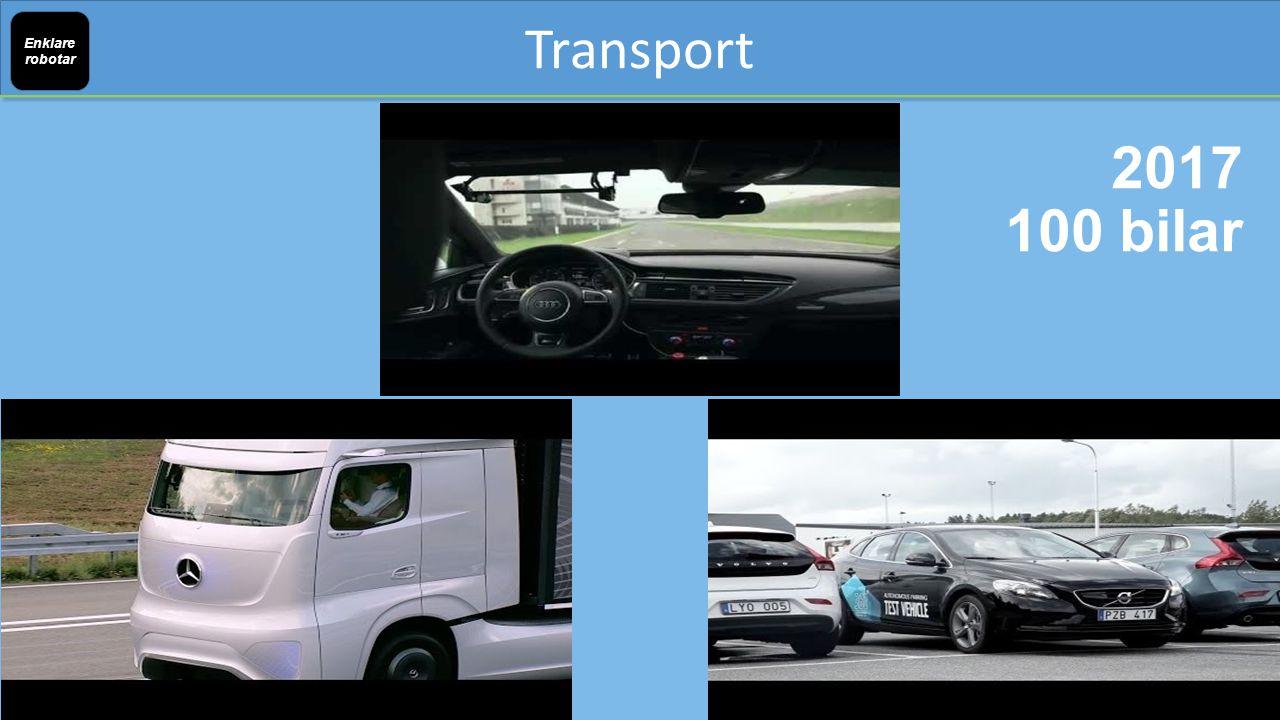 Transport Enklare robotar 2017 100 bilar