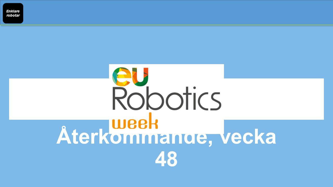 Enklare robotar Återkommande, vecka 48
