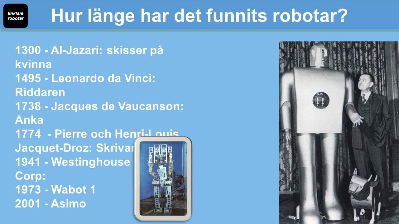 Hur länge har det funnits robotar.