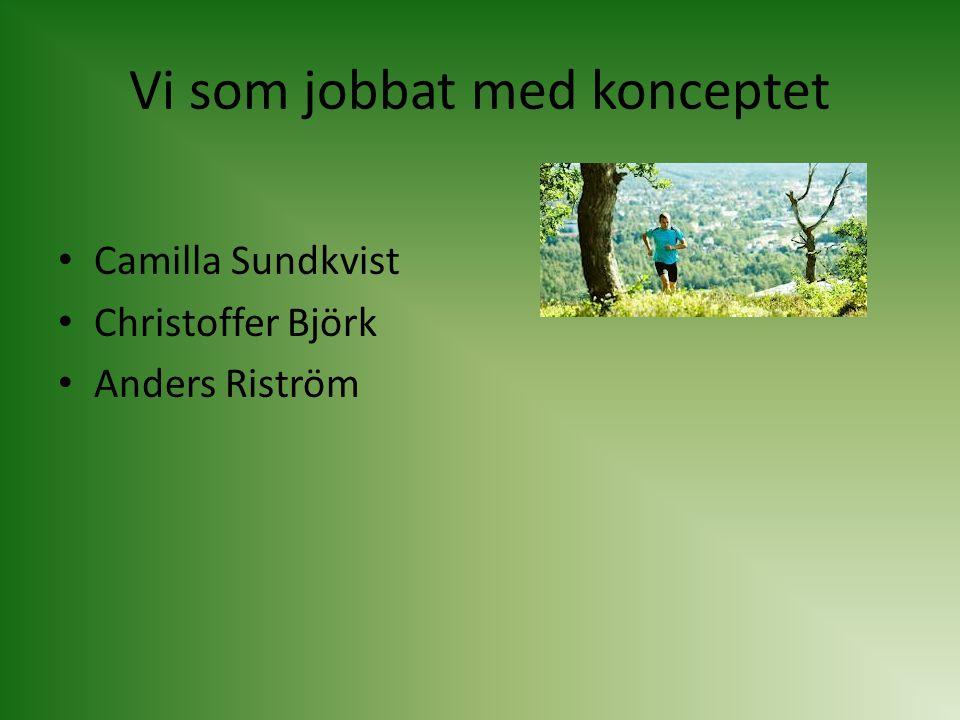 Vi som jobbat med konceptet Camilla Sundkvist Christoffer Björk Anders Riström