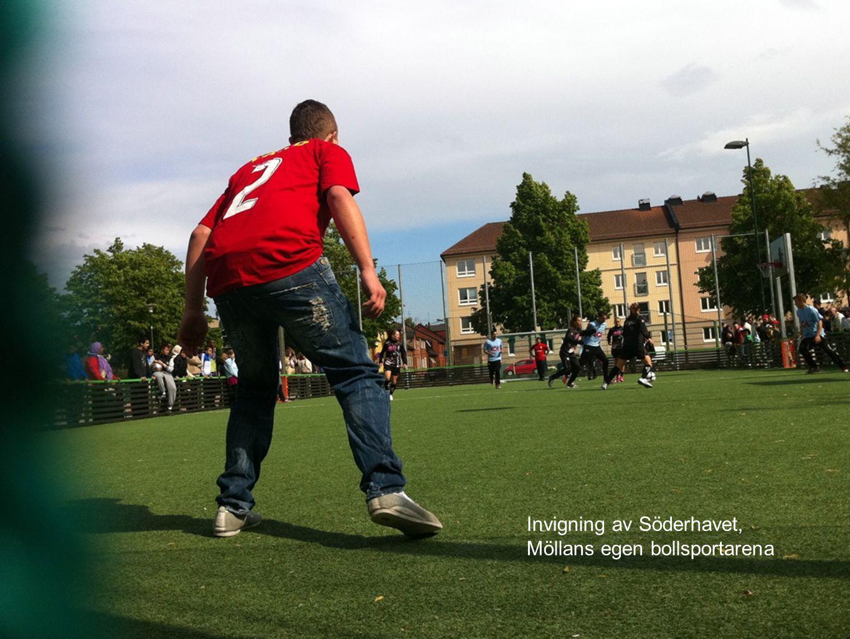 Invigning av Söderhavet, Möllans egen bollsportarena