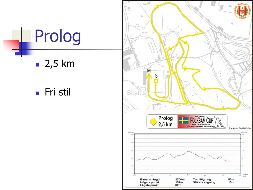 Prolog 2,5 km Fri stil