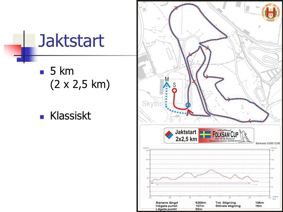 Jaktstart 5 km (2 x 2,5 km) Klassiskt