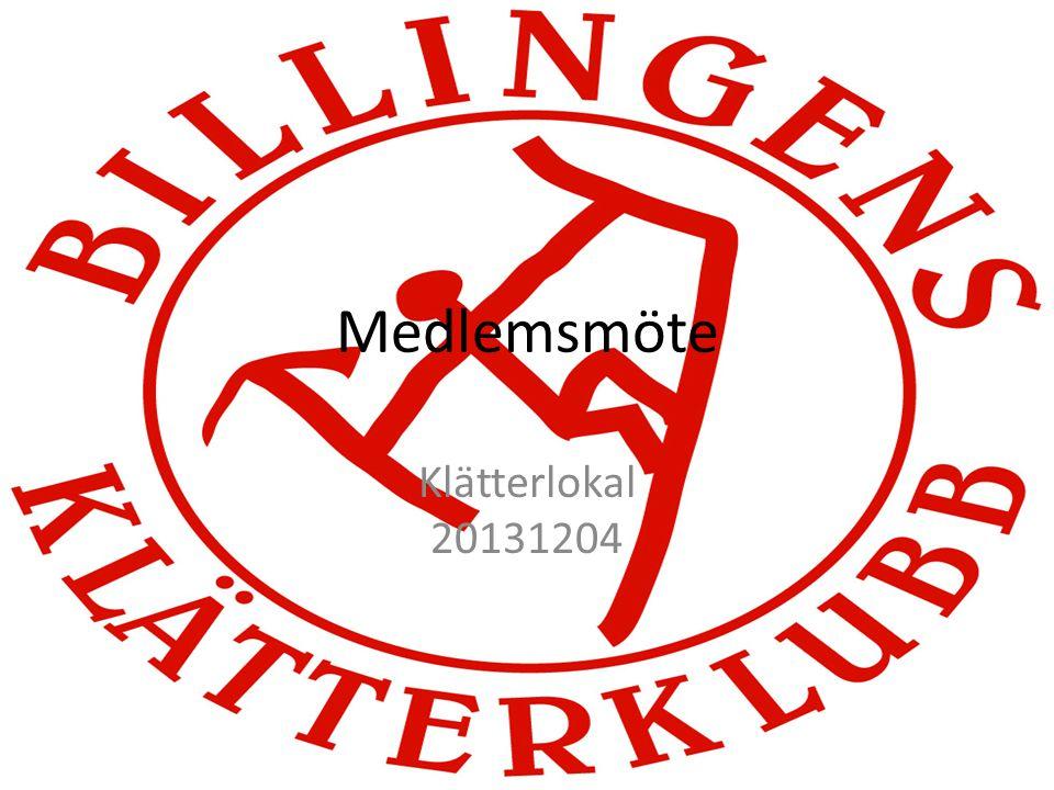 Medlemsmöte Klätterlokal 20131204