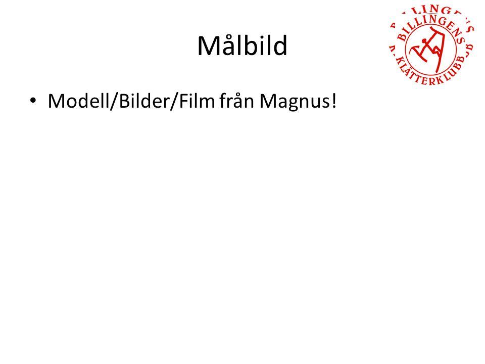 Målbild Modell/Bilder/Film från Magnus!