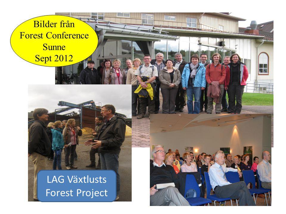 Bilder från Forest Conference Sunne Sept 2012 LAG Växtlusts Forest Project