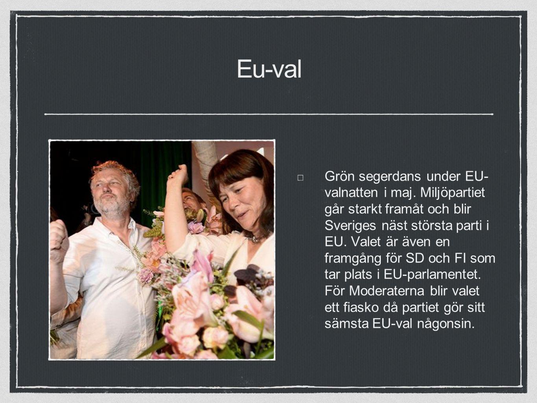 Eu-val Grön segerdans under EU- valnatten i maj.