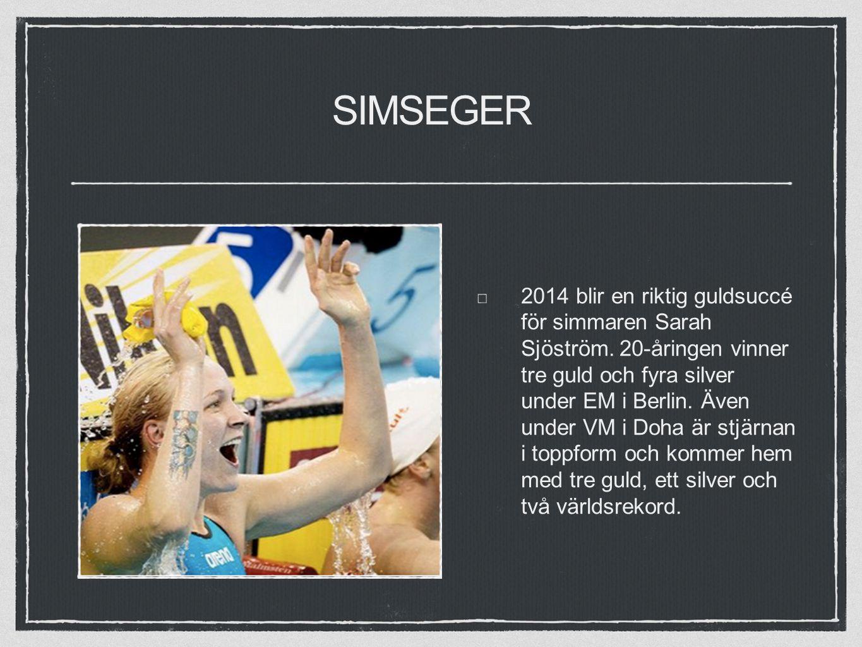 SIMSEGER 2014 blir en riktig guldsuccé för simmaren Sarah Sjöström.