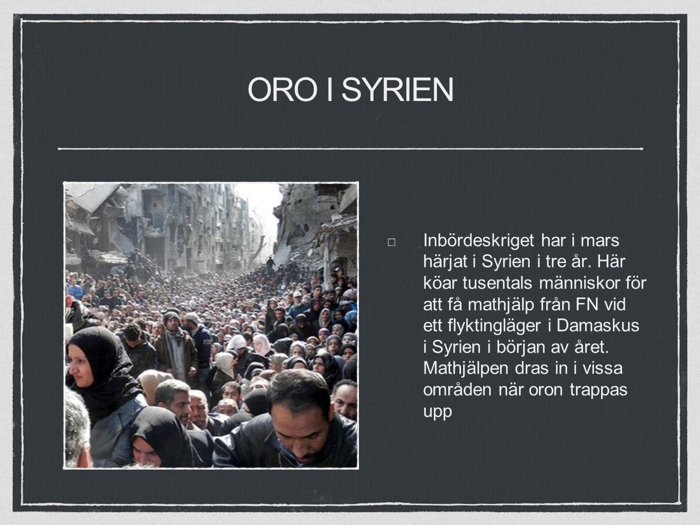 ORO I SYRIEN Inbördeskriget har i mars härjat i Syrien i tre år.