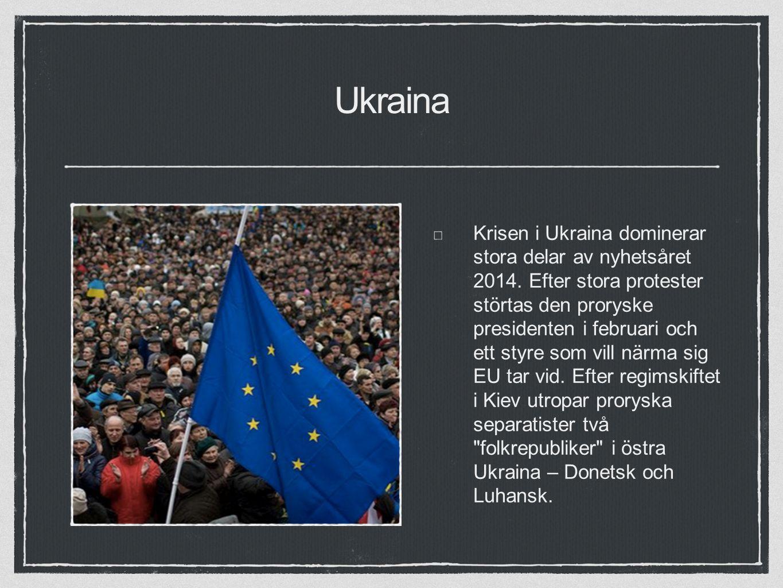 Ukraina Krisen i Ukraina dominerar stora delar av nyhetsåret 2014.