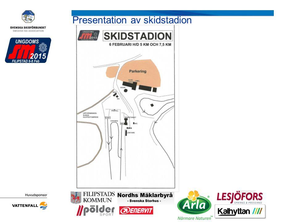 Presentation av skidstadion Arrangörens logotyp