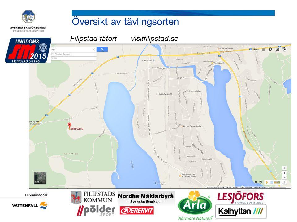 Översikt av tävlingsorten Filipstad tätort visitfilipstad.se Arrangörens logotyp r det )