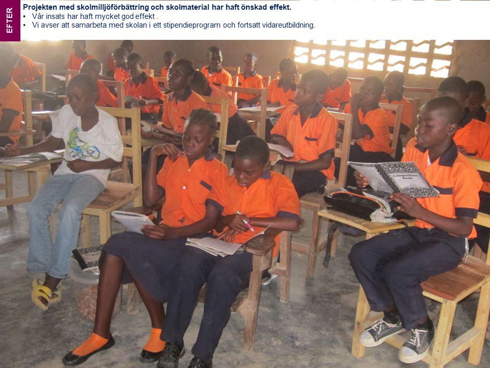BENLA COMMUNITY SCHOOL Projekten med skolmilljöförbättring och skolmaterial har haft önskad effekt.