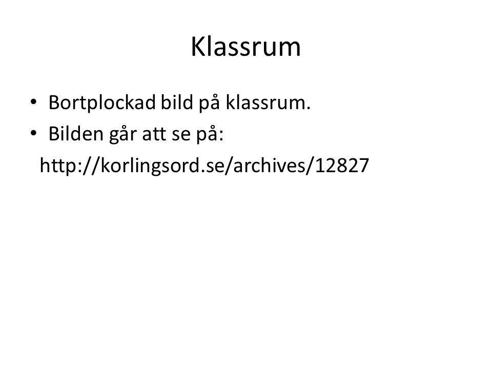 Klassrum Bortplockad bild på klassrum. Bilden går att se på: http://korlingsord.se/archives/12827