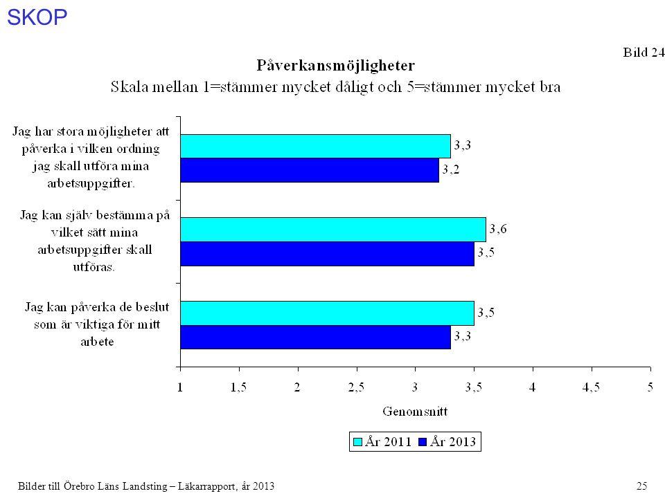 SKOP Bilder till Örebro Läns Landsting – Läkarrapport, år 201325
