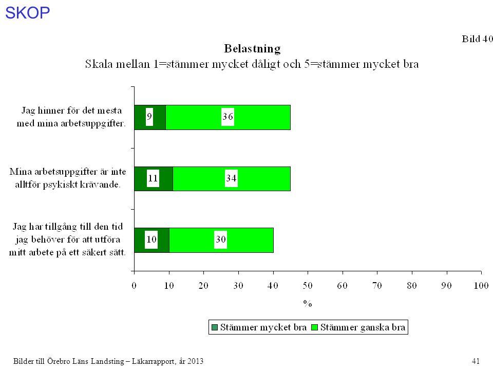 SKOP Bilder till Örebro Läns Landsting – Läkarrapport, år 201341