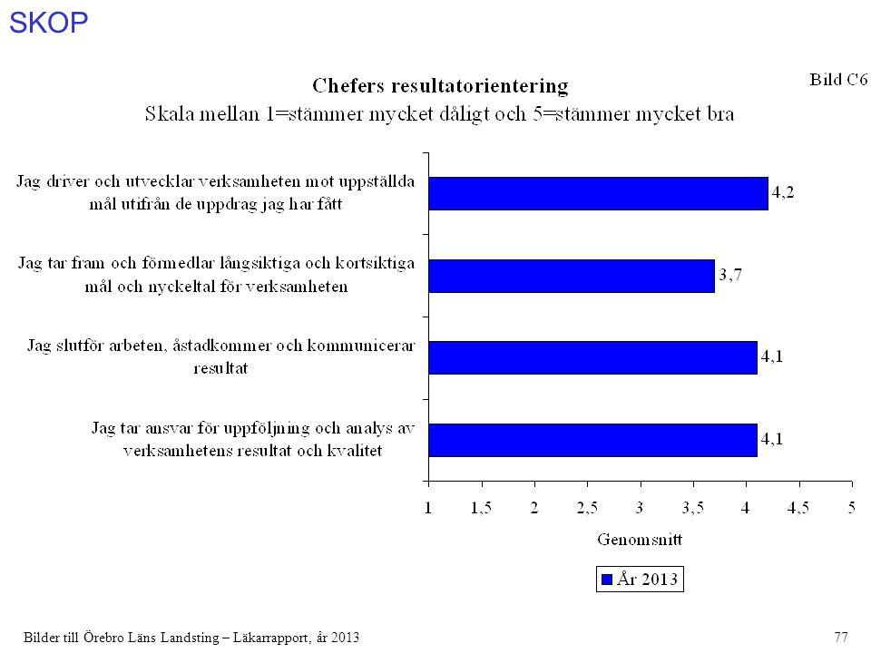 SKOP Bilder till Örebro Läns Landsting – Läkarrapport, år 201377