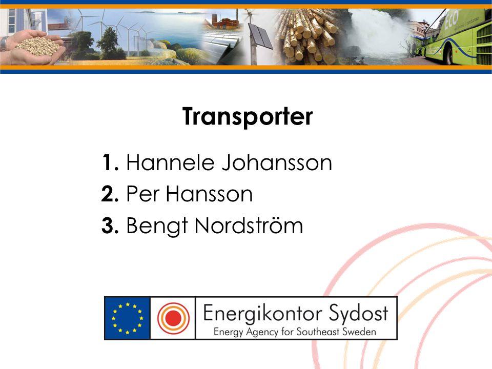 Transporter 1. Hannele Johansson 2. Per Hansson 3. Bengt Nordström