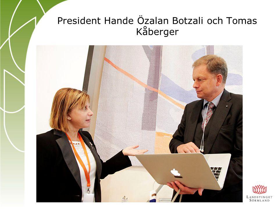 President Hande Özalan Botzali och Tomas Kåberger