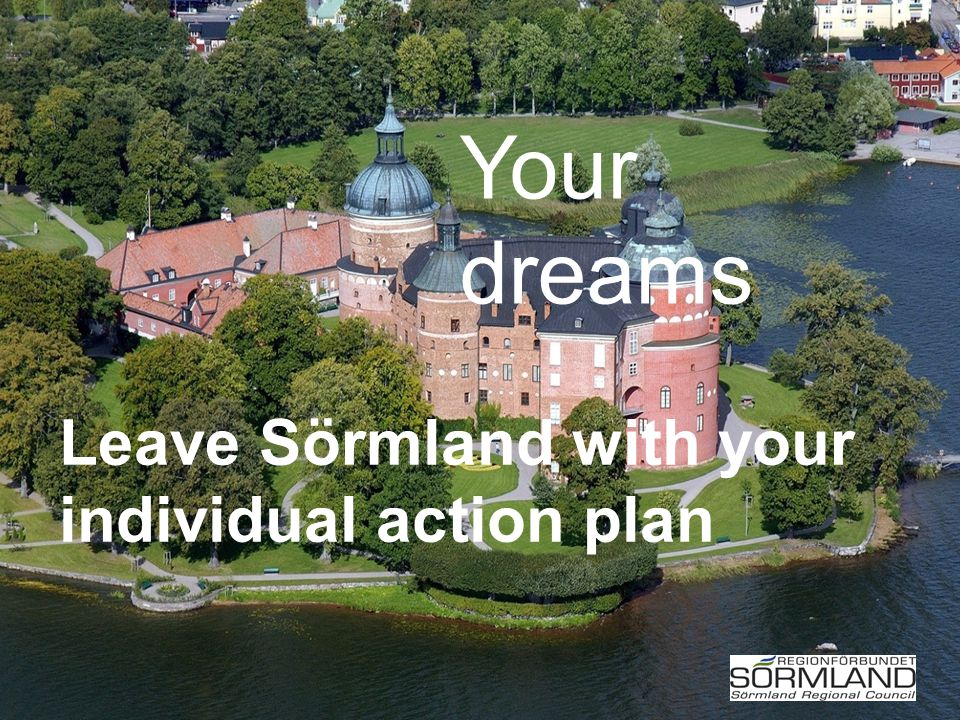 Leave Sörmland with your individual action plan Your dreams
