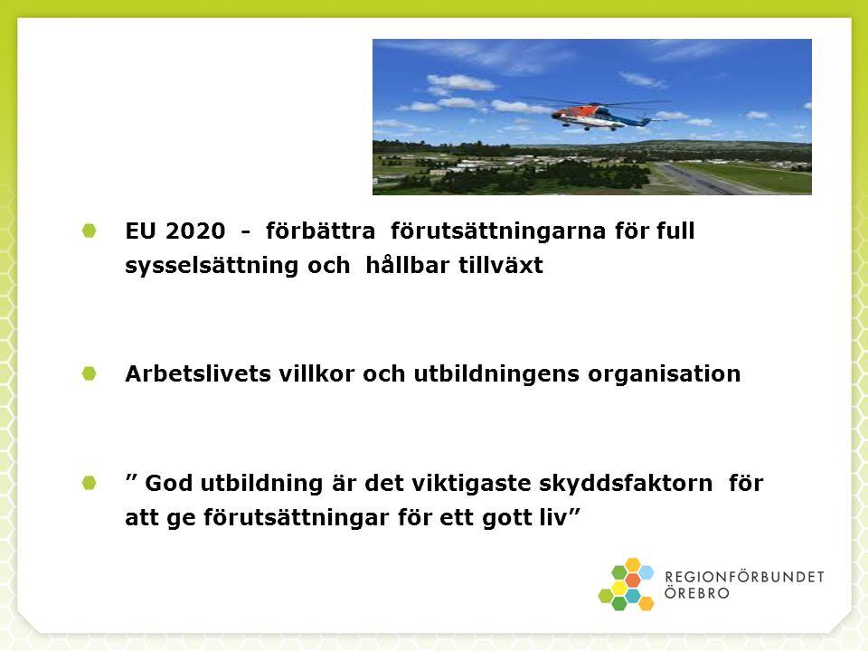 """EU 2020 - förbättra förutsättningarna för full sysselsättning och hållbar tillväxt Arbetslivets villkor och utbildningens organisation """" God utbildnin"""