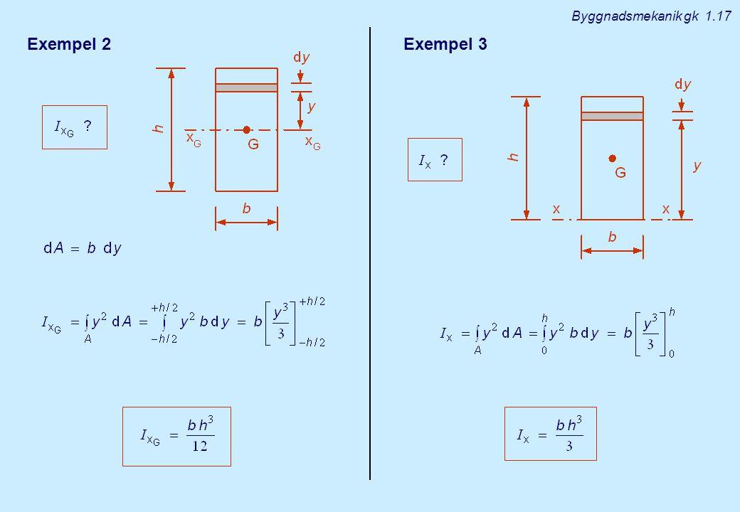 Exempel 2Exempel 3 Byggnadsmekanik gk 1.17