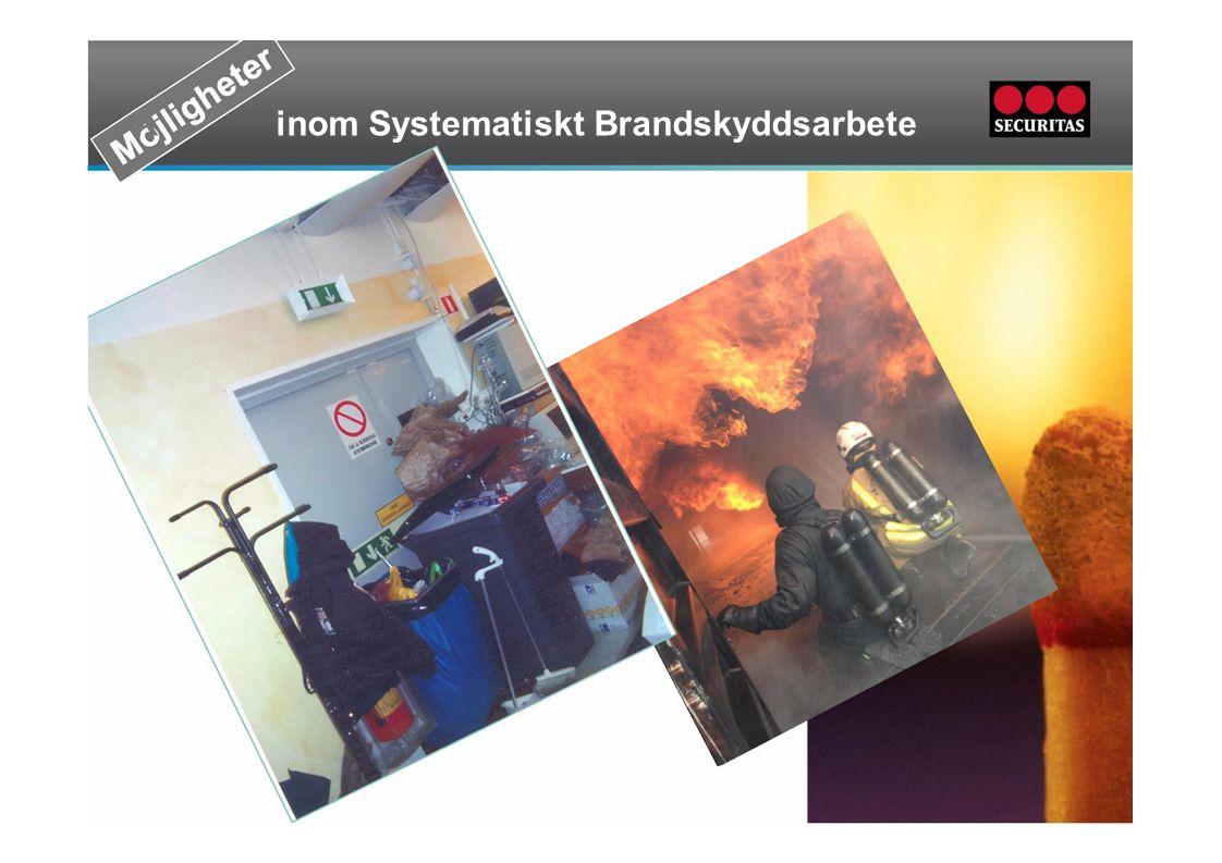Tekniskt brandskydd Mål och strategi Uppföljning & utvärdering Tekniskt brandskydd Underhåll, besiktning och tillsyn Riskhantering Tillbuds & olycksutredning Brandfarlig vara Regler& rutiner Organisation & resurser Utbildning & övningNödlägeshantering Egenkontroll av brandskyddet Tagen-fastställd och välkänd 0 Tagen- fastställd ej välkänd 1 Tagen – fastställd ej förmedlad 2 Arbetet påbörjat 3 Arbetet ej påbörjat – planerat 4 Ej planerat 5