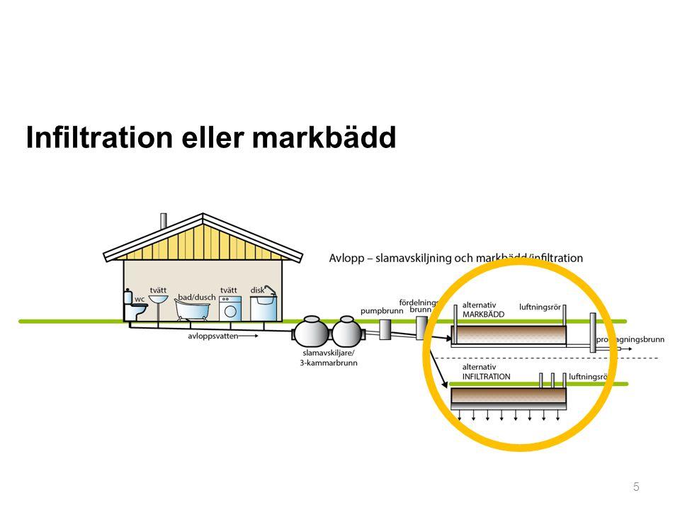 Vi ska titta närmare på några viktiga detaljer hos en markbaserad anläggning: Slamavskiljare Pumpbrunn Fördelningsbrunn Luftningsrör