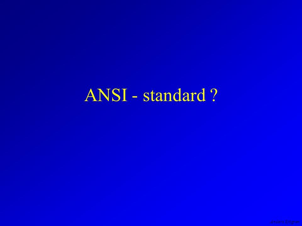 Anders Sjögren ANSI - standard
