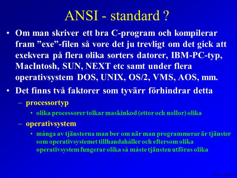 Anders Sjögren ANSI - standard .
