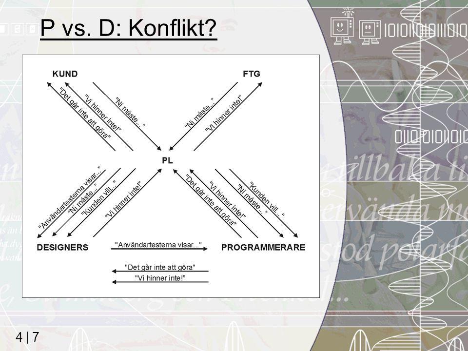 7 4 P vs. D: Konflikt