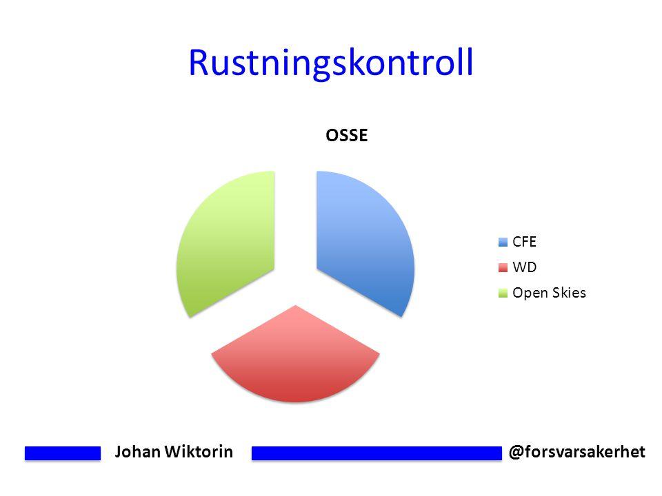 Johan Wiktorin @forsvarsakerhet Rustningskontroll