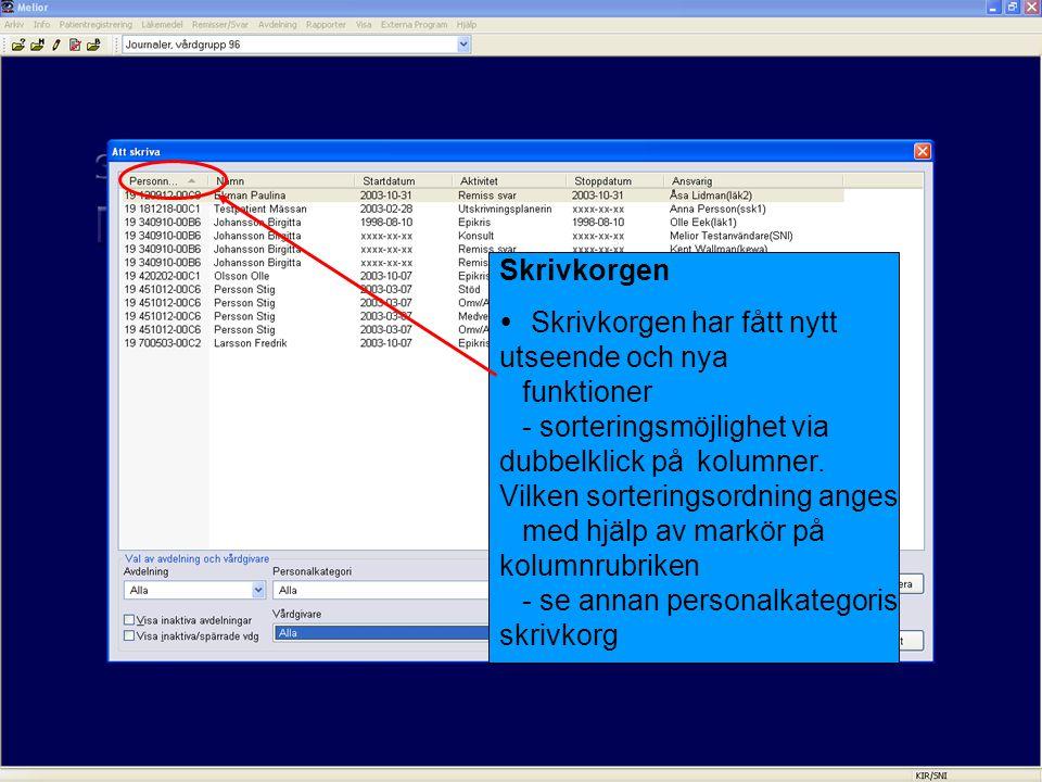 Bevakning foldrar  Möjlighet att läsa varandras bevakningskorgar via Bevakningsinställningar.