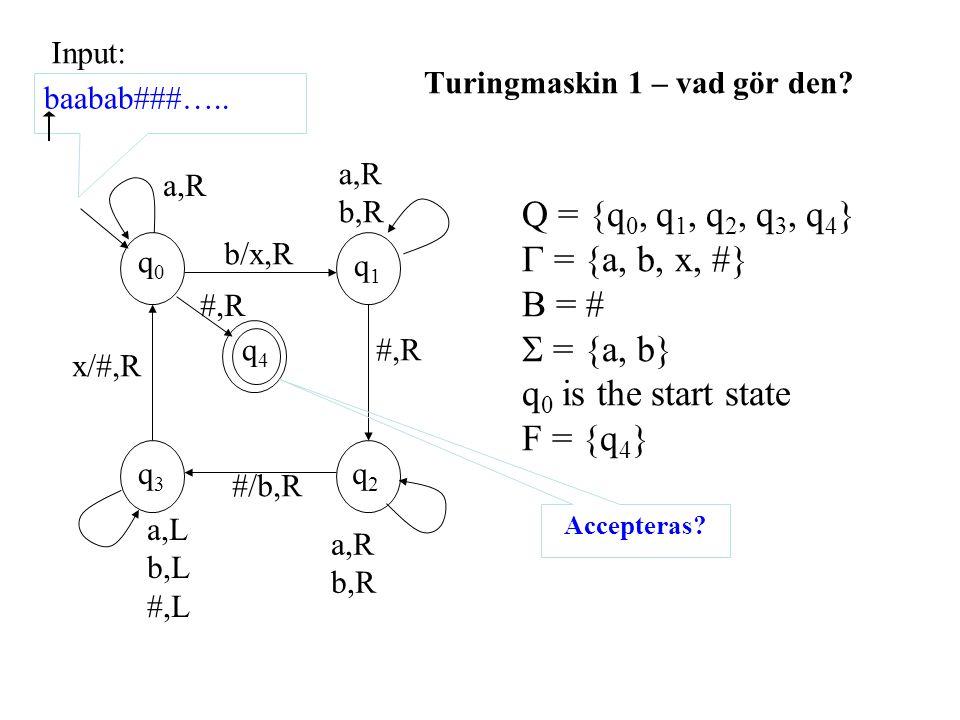 Turingmaskin 1 – vad gör den.