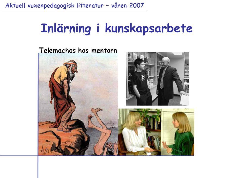 Aktuell vuxenpedagogisk litteratur – våren 2007 Inlärning i kunskapsarbete Telemachos hos mentorn