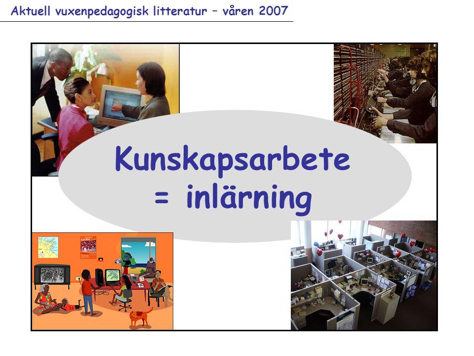 Aktuell vuxenpedagogisk litteratur – våren 2007 Kunskapsarbete = inlärning