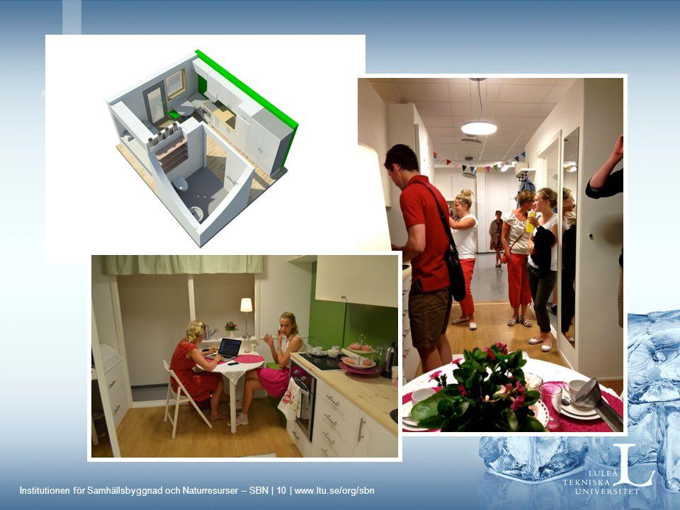 Institutionen för Samhällsbyggnad och Naturresurser – SBN | 10 | www.ltu.se/org/sbn Projektkurser