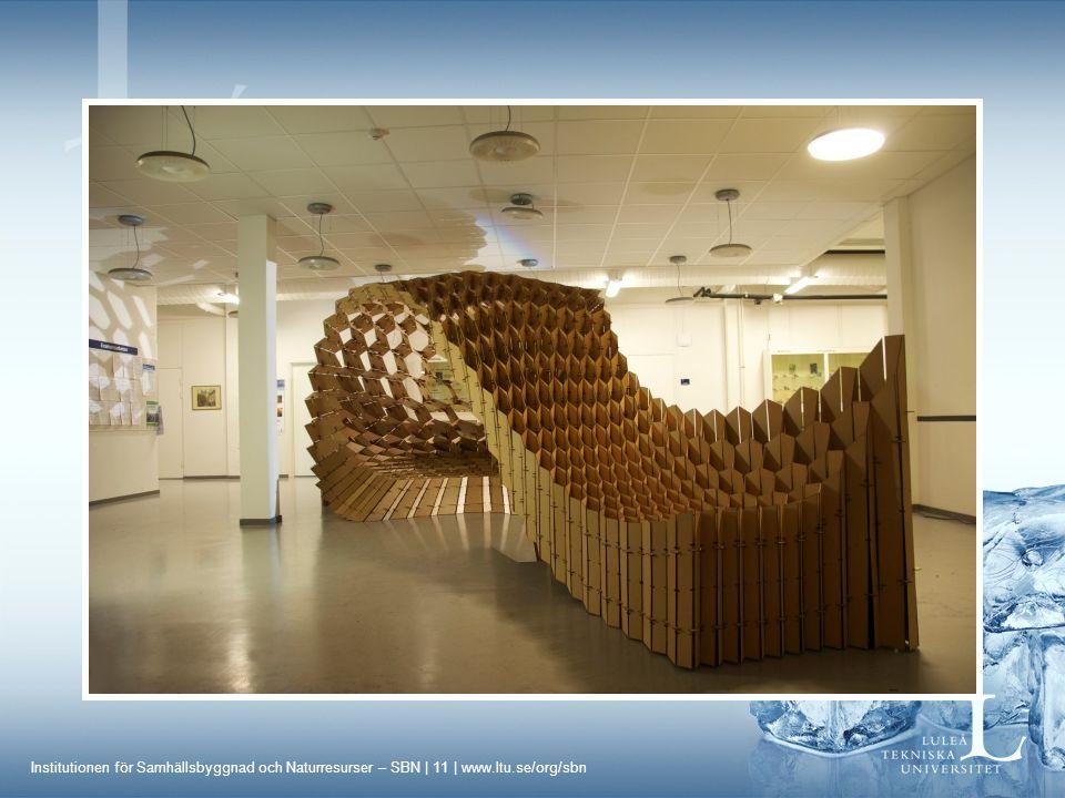 Institutionen för Samhällsbyggnad och Naturresurser – SBN | 11 | www.ltu.se/org/sbn