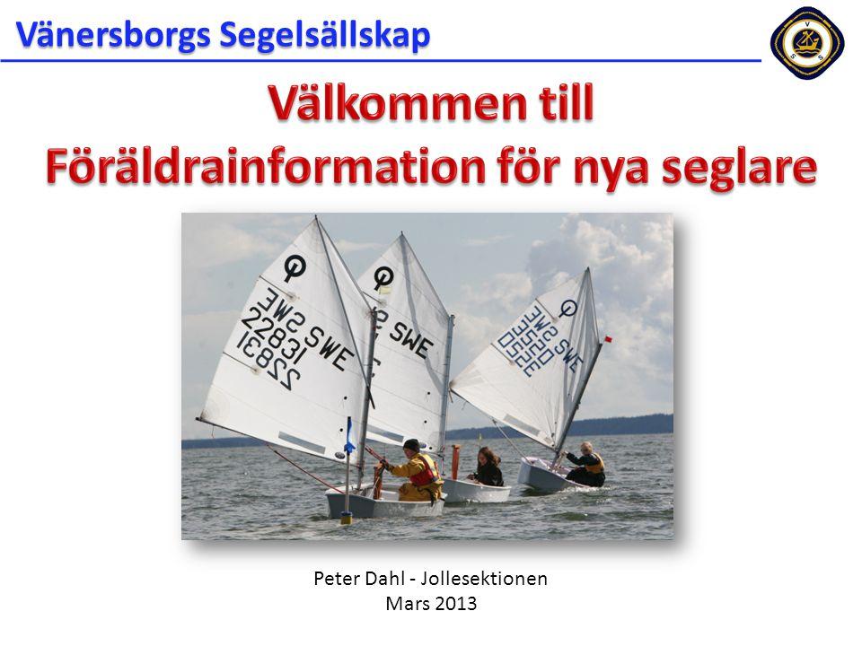 Peter Dahl - Jollesektionen Mars 2013 Vänersborgs Segelsällskap