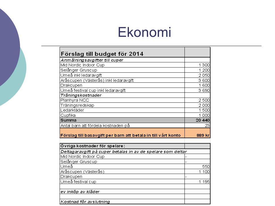 Material  Nytt avtal from 2014 med Stadium/Nike 20% rabatt på all fotbollsutrustning fram till 30 april.