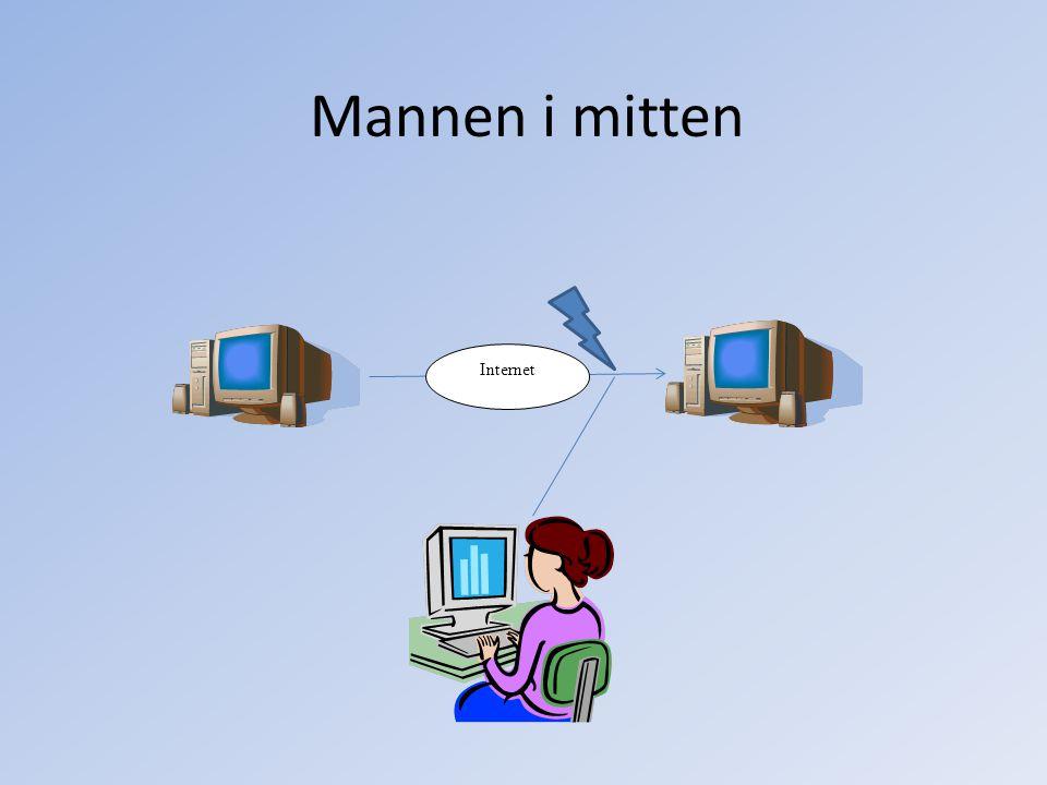 Mannen i mitten Internet