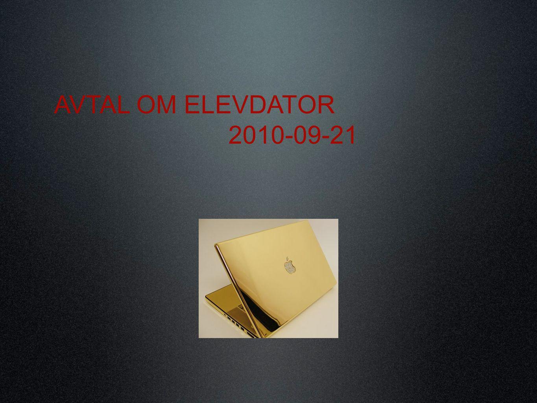 AVTAL OM ELEVDATOR 2010-09-21