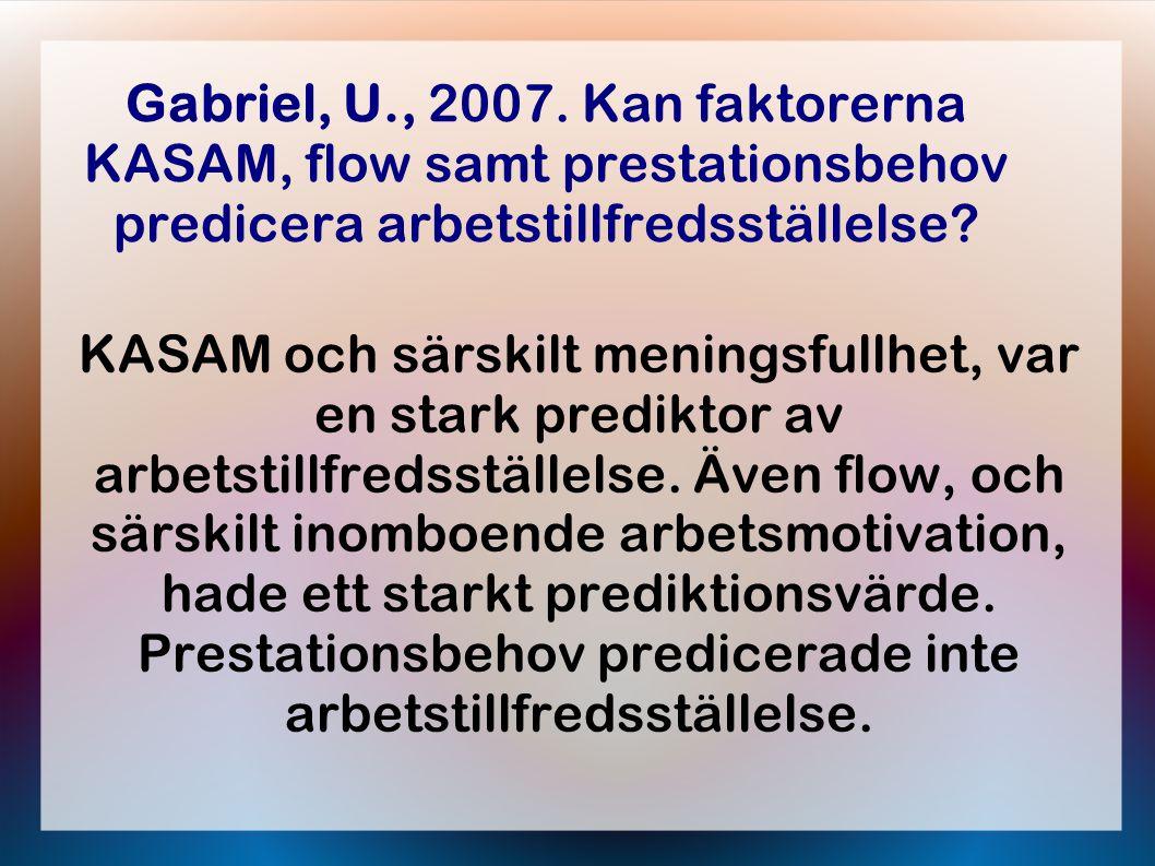 Gabriel, U., 2007.