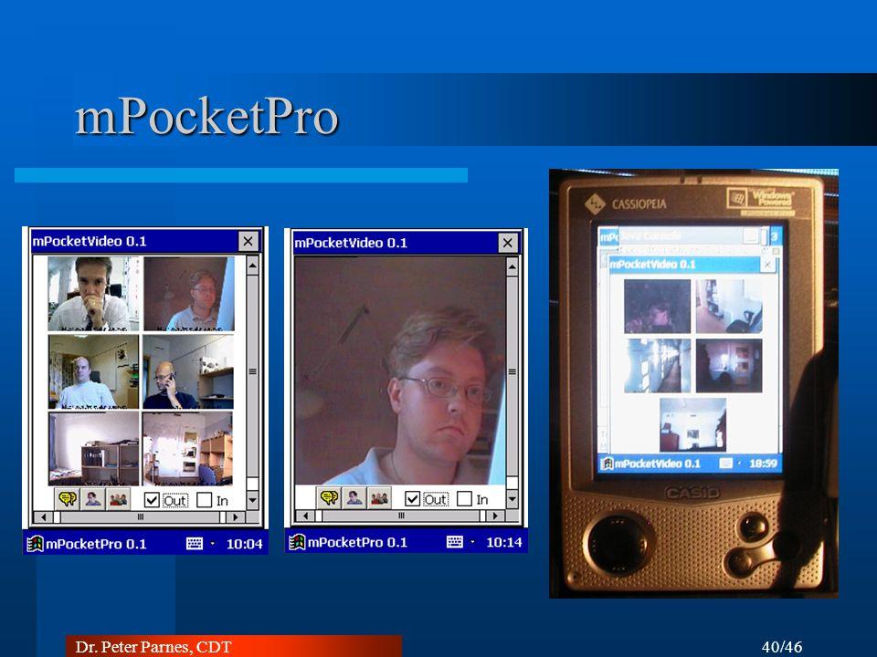 40/46 Dr. Peter Parnes, CDT mPocketPro