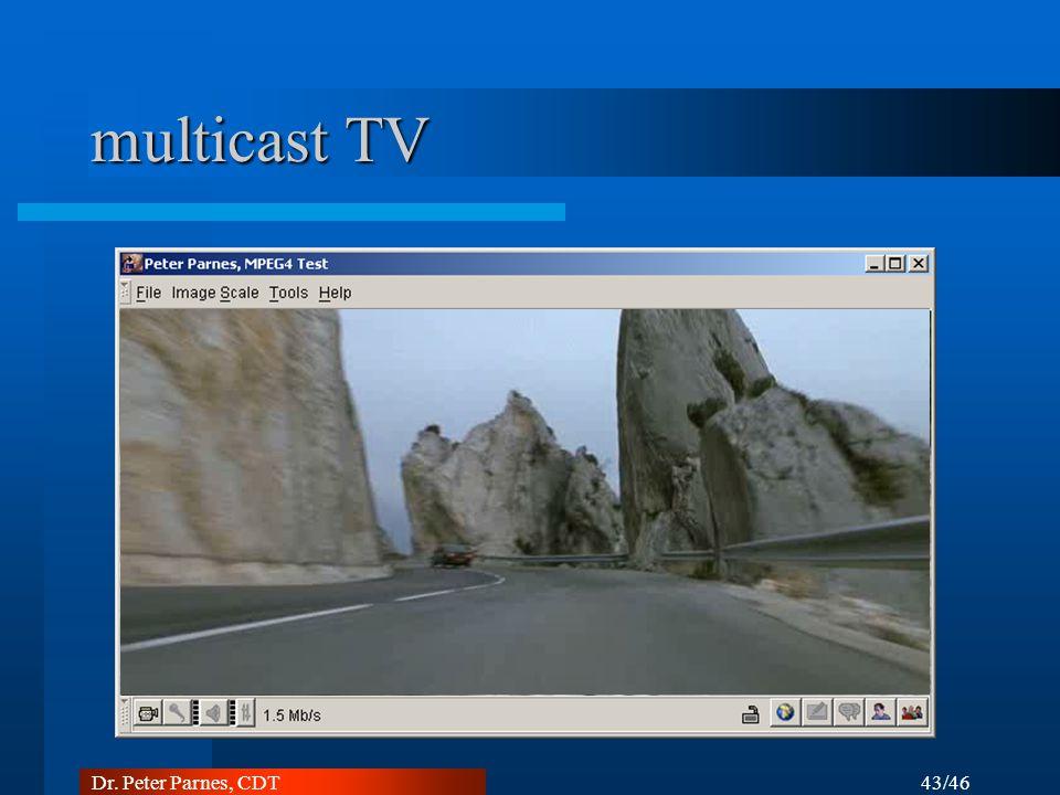 43/46 Dr. Peter Parnes, CDT multicast TV