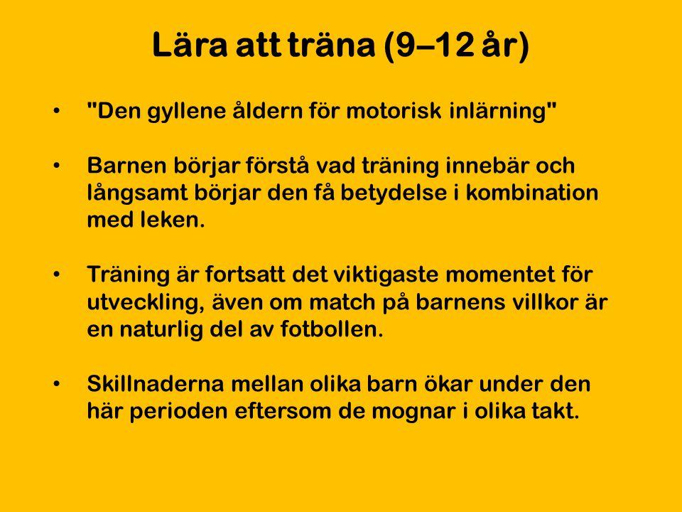 Lära att träna (9–12 år)
