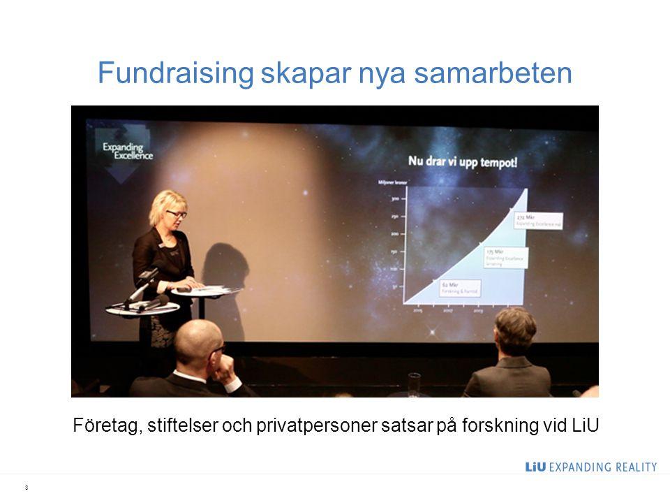 Fundraising skapar nya samarbeten Företag, stiftelser och privatpersoner satsar på forskning vid LiU 3