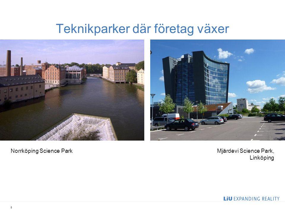 Teknikparker där företag växer 5 Norrköping Science ParkMjärdevi Science Park, Linköping